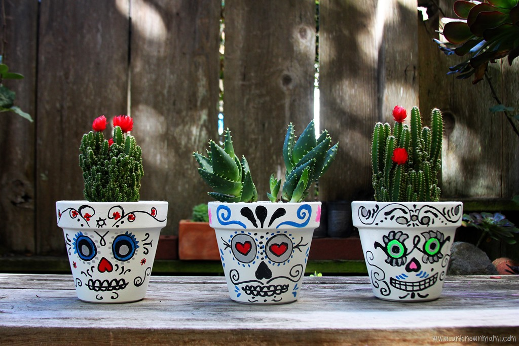 DIY: Day of the Dead Sugar Skull Planters - By Claudya
