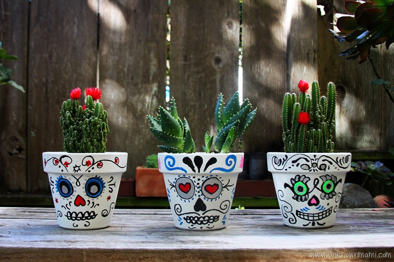 DIY Catrina planters for Day of the Dead