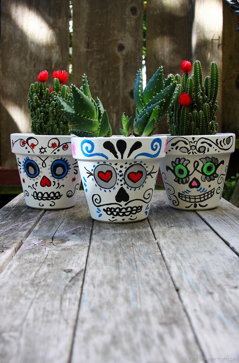 Day of the Dead Sugar Skull planters