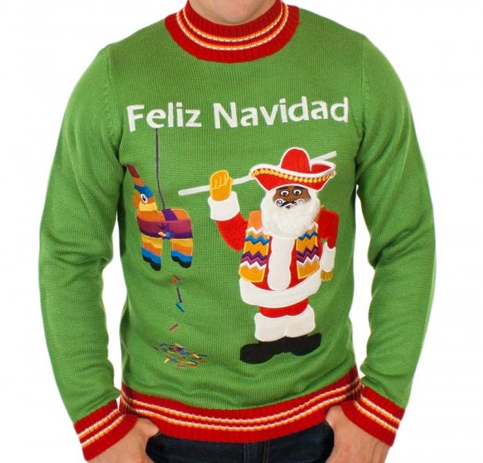 Mexican Santa Feliz Navidad Sweater