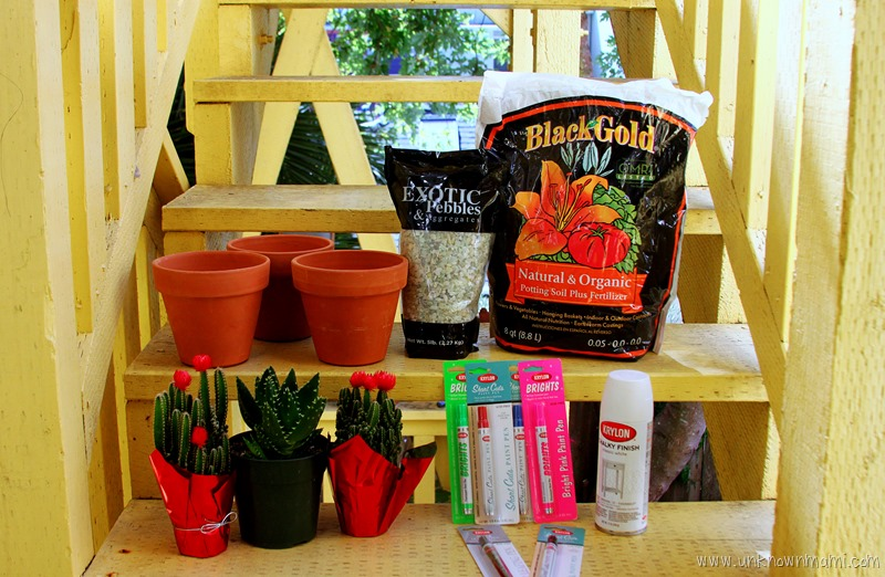 Supplies for Day of the Dead sugar skull planters