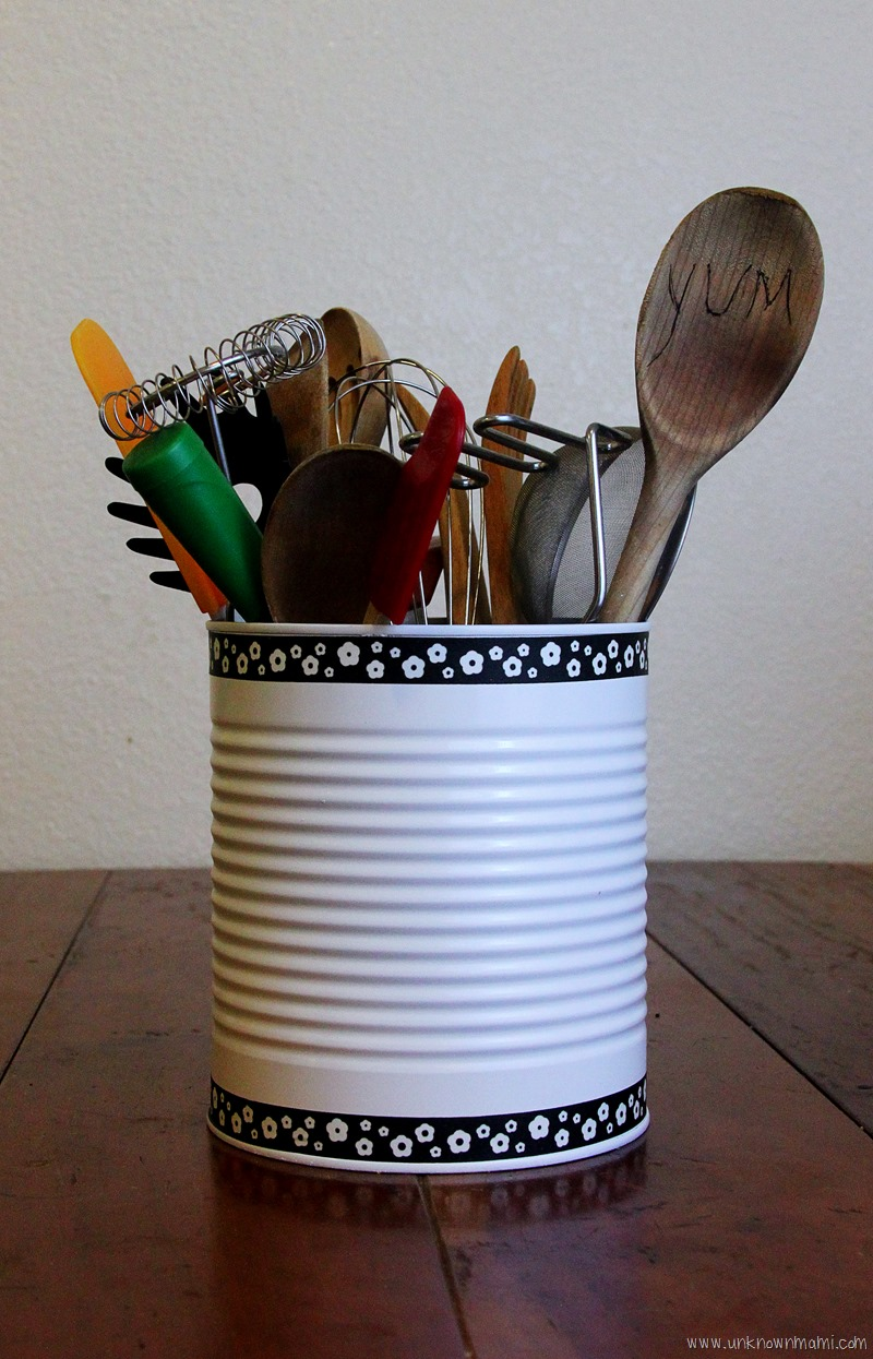 Diy Tin Can Utensil Holder By Claudya