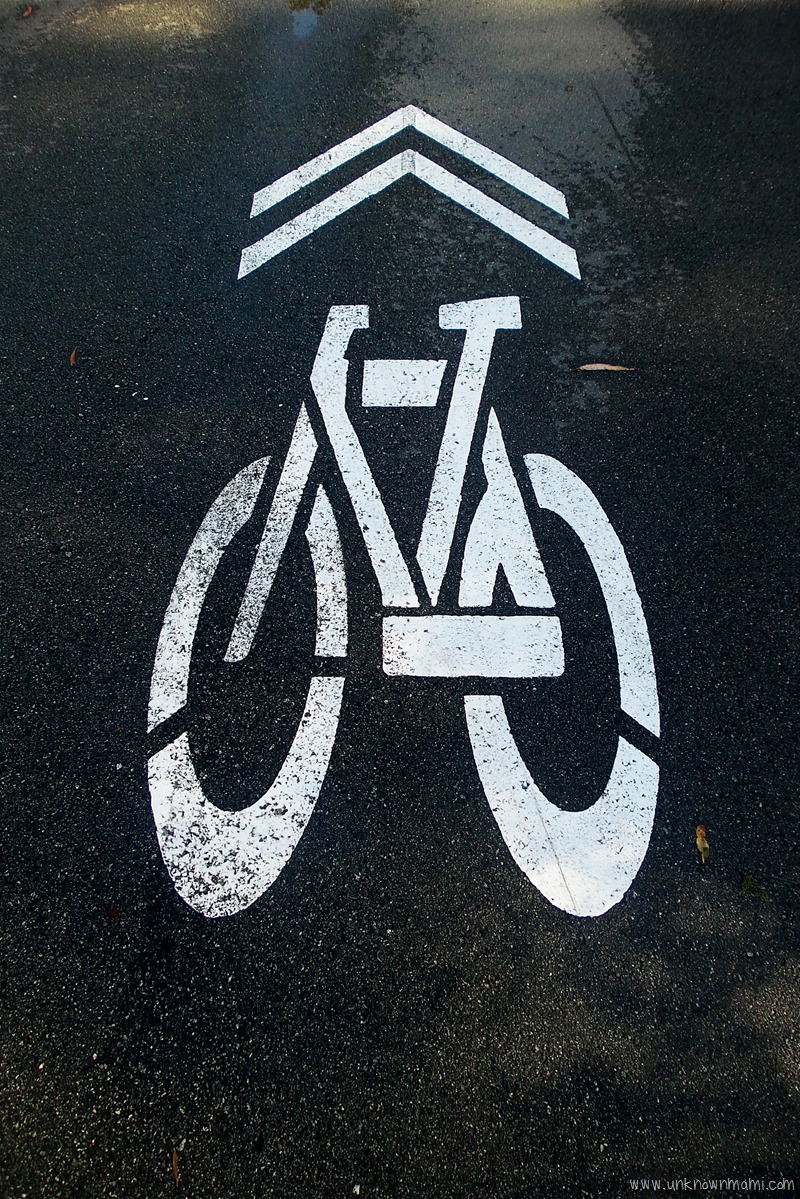 Biking sign