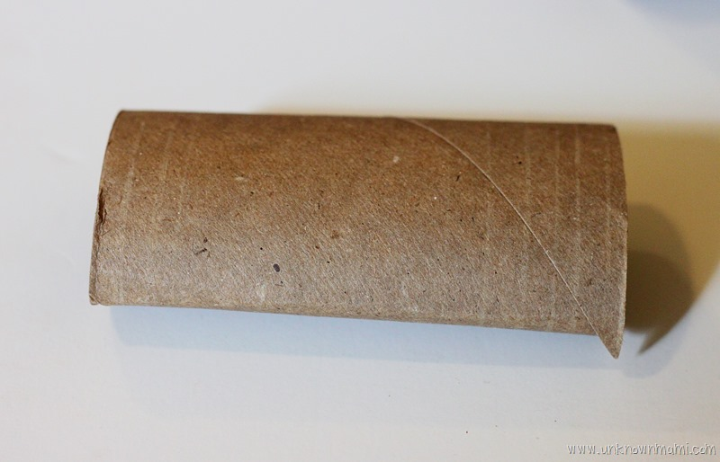Empty toilet paper roll craft