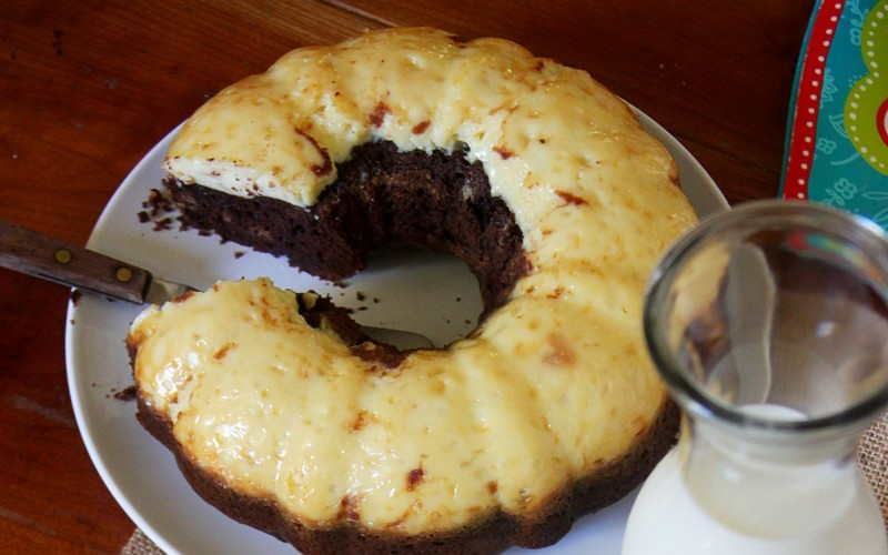 Easy Choco-Chip Flan Cake Recipe