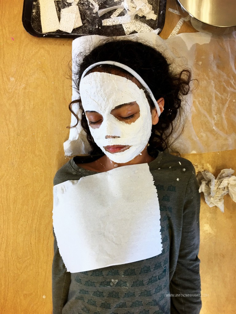 Plaster cloth mask making