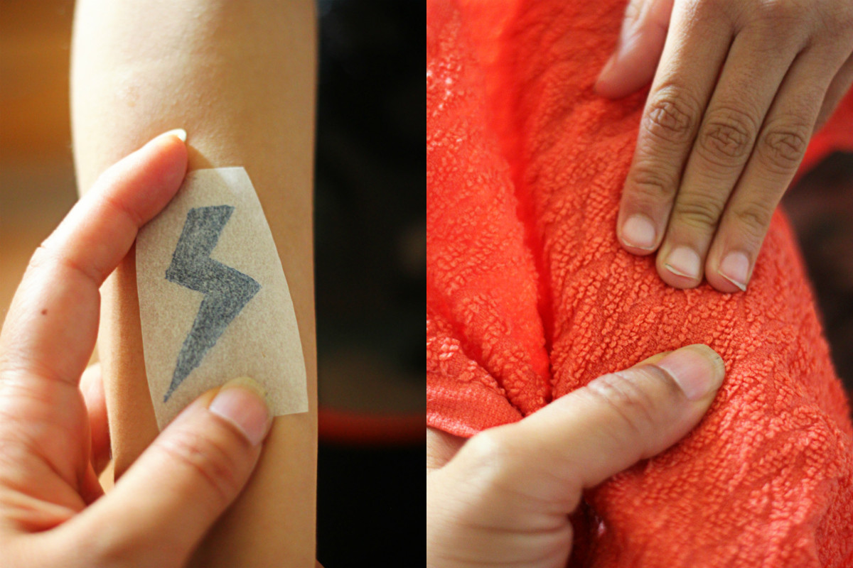 Applying Temporary Tattoo