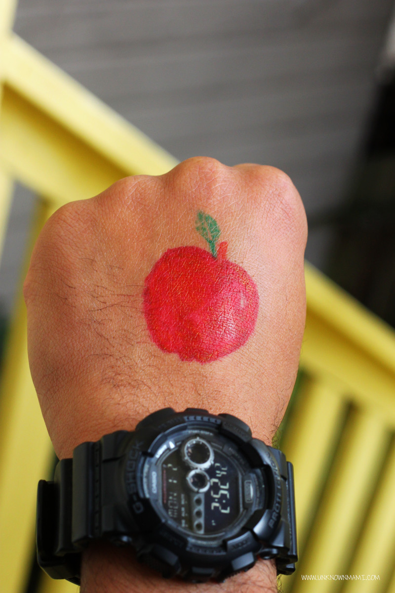 Apple Temporary Tattoo