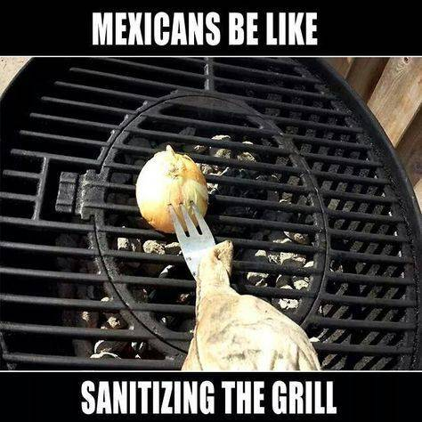 Grill cleaning meme