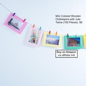 Mini Clothespin Photo Display