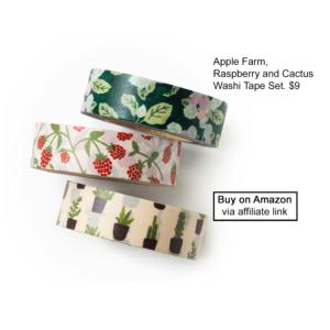 plant washi tape set
