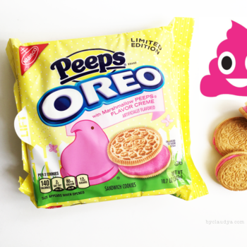 Peeps Oreos Make Poop Pink