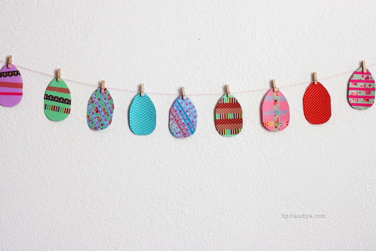 Washi Tape Easter Egg Craft for Kids