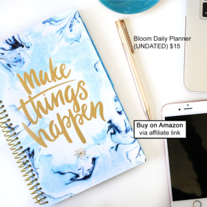 Undated Bloom Daily Planner