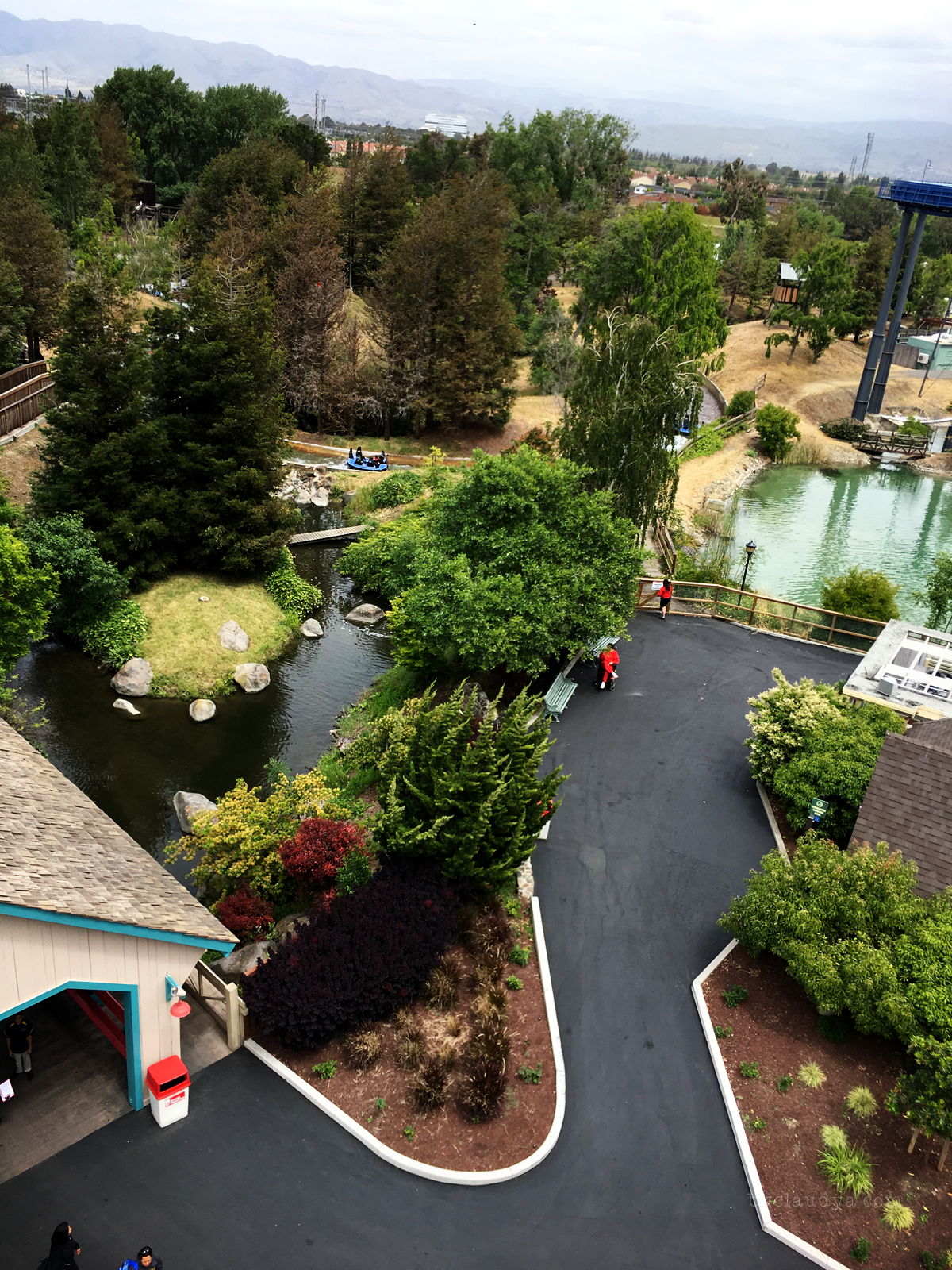 California's Great America from gondola view