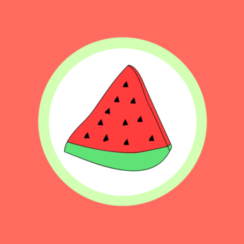 Watermelon with taco seasoning