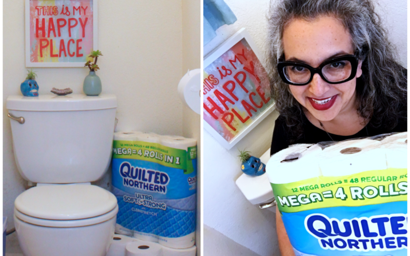 Easy Bathroom Makeover With Just 3 Items From Target