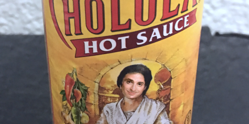 Bob Saget Cholula Bottle