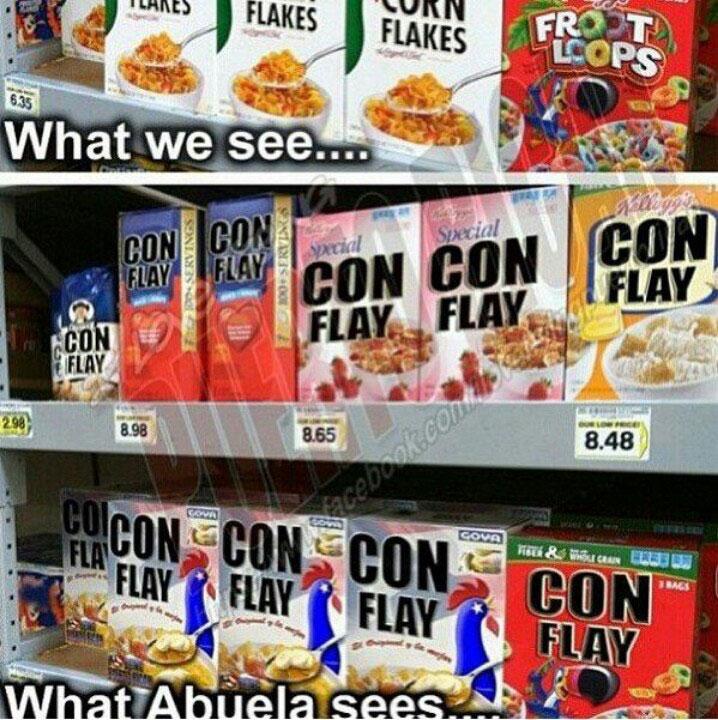 Abuela sees cornflay meme
