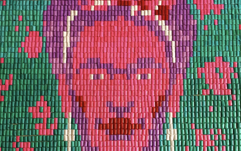 A Portrait of Frida Kahlo in Chicle and More Frida Inspired Art (Sundays In My City)