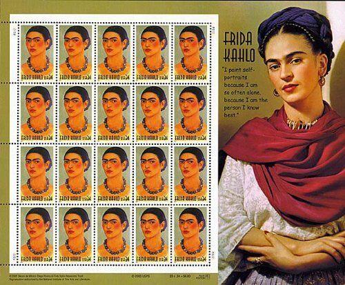 Frida Kahlo postage stamps