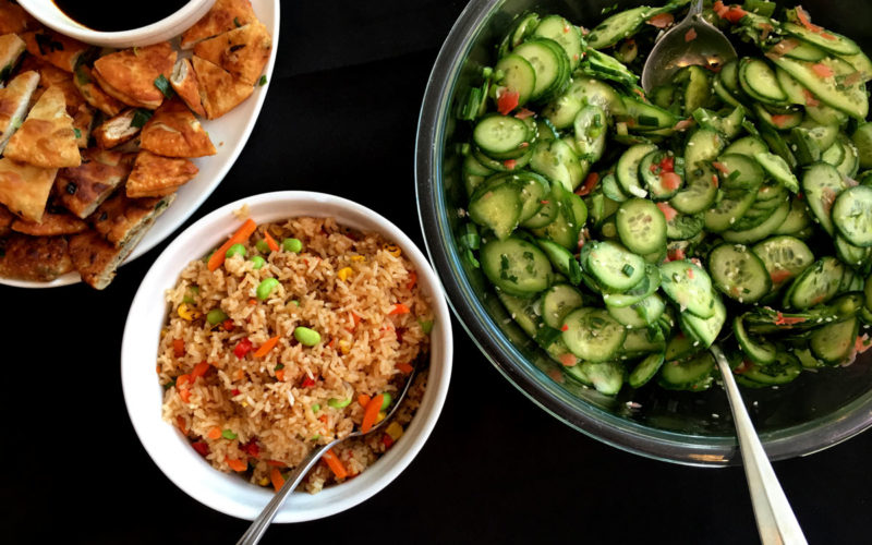 Ling Ling Fried Rice and Hand-Rolled Scallion Pancakes