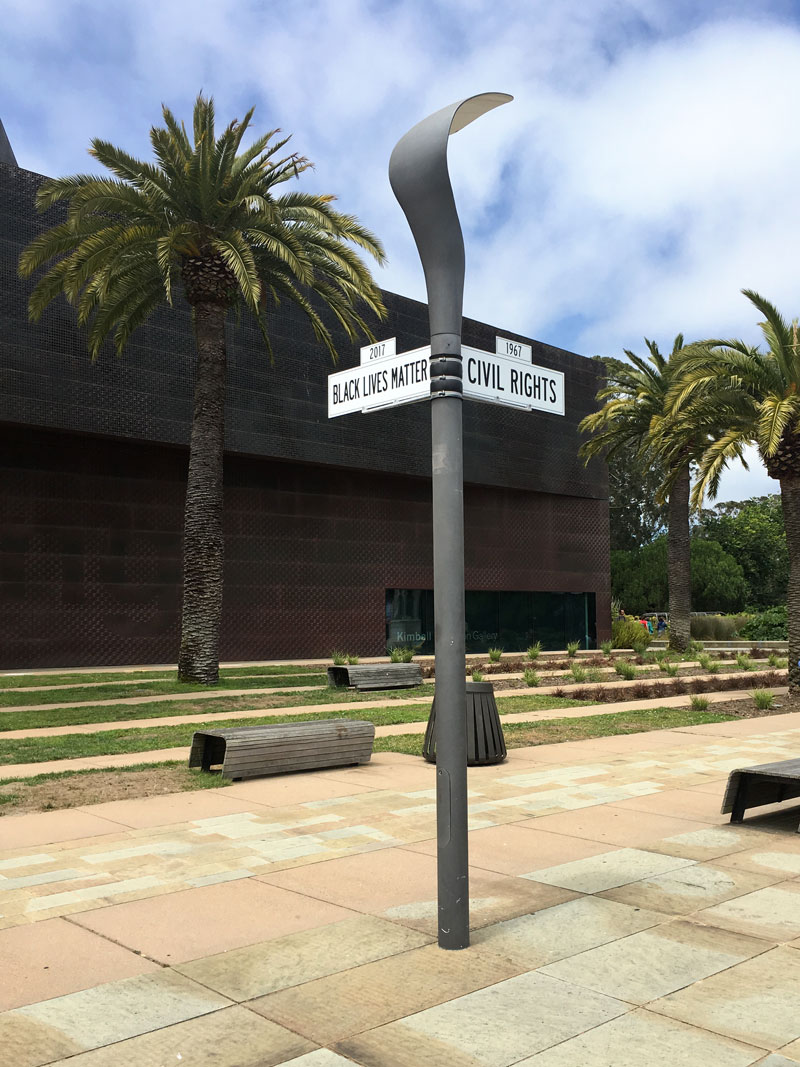 Black Lives Matter and Civil Rights Street Signs at DeYoung