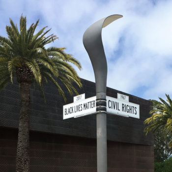 Black Lives Matter and Civil Rights street signs DeYoung Museum