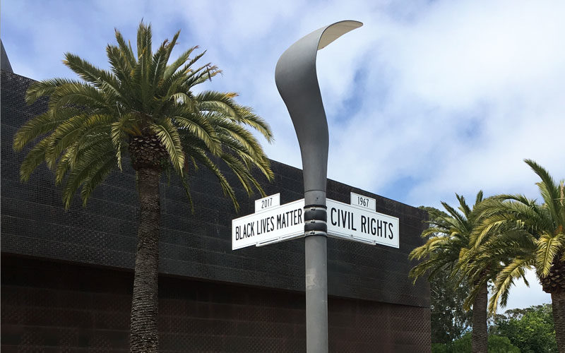Faux Summer of Love Street Signs at de Young Museum (Sundays In My City)
