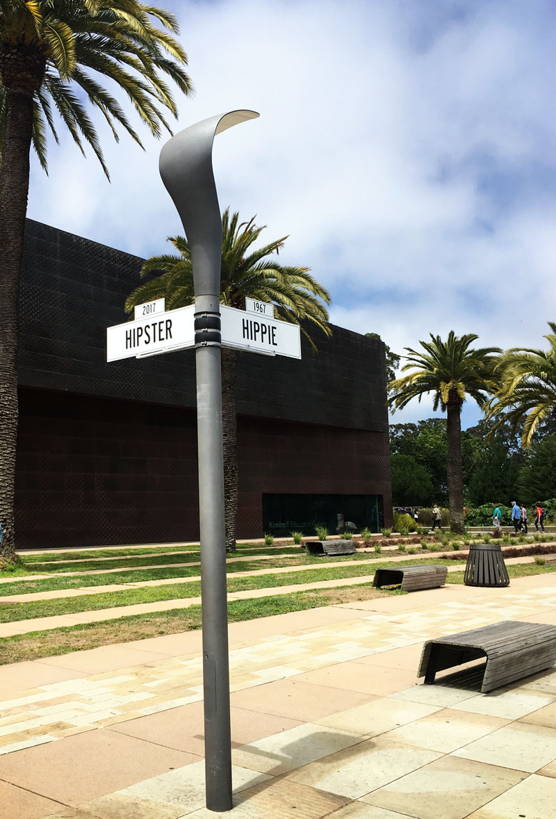 Hipster and Hippie street signs DeYoung