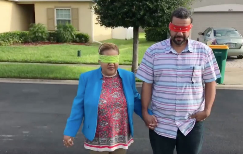LeJuan James parents blindfolded