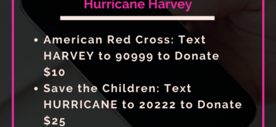 Text Donations for Hurricane Harvey