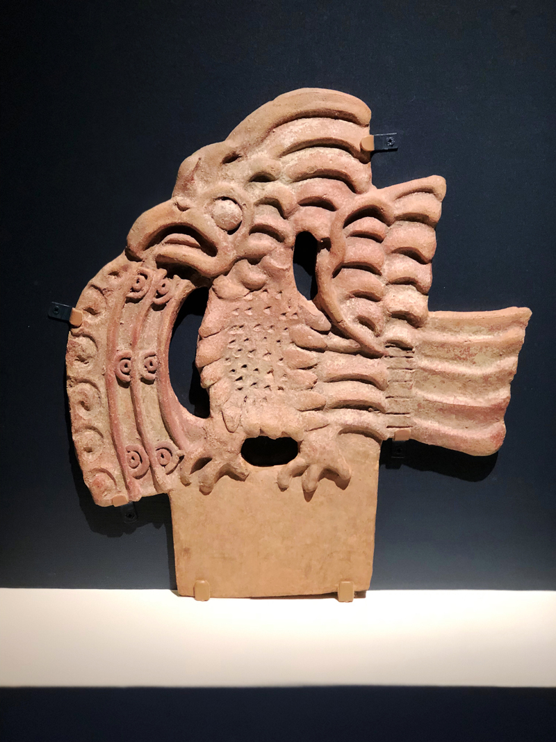 Bird Stone Relief Teotihuacan