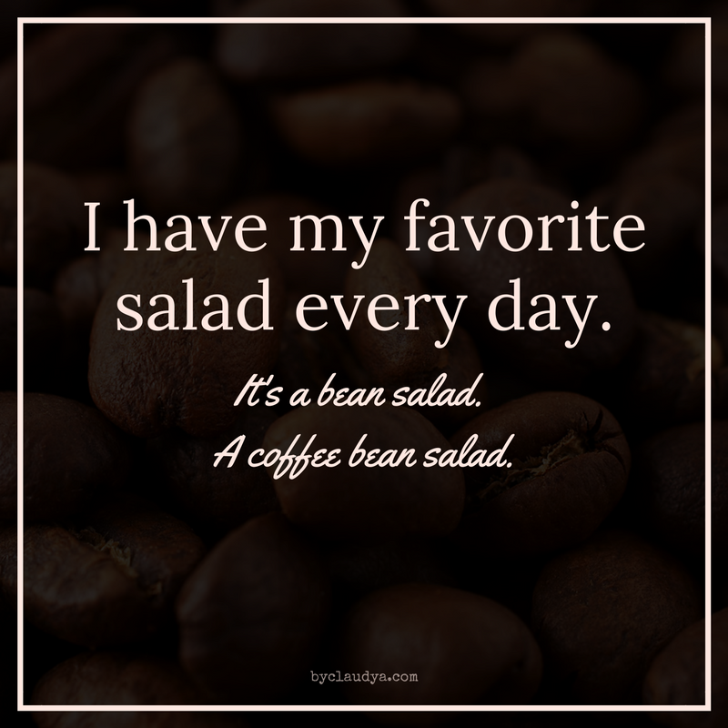 Coffee bean salad meme