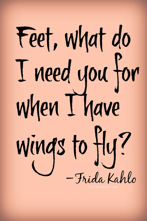Fee, what do I need you for when I have wings to fly?