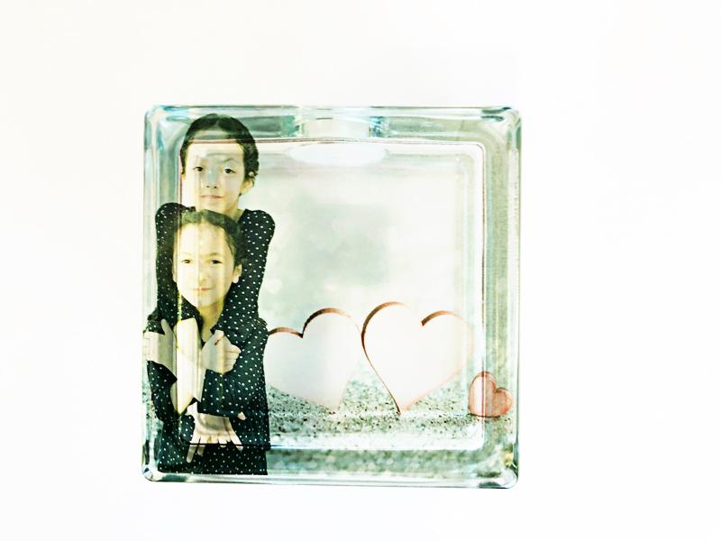 DIY glass block photo