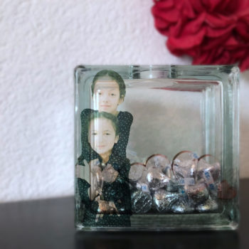 Glass block photo keepsake