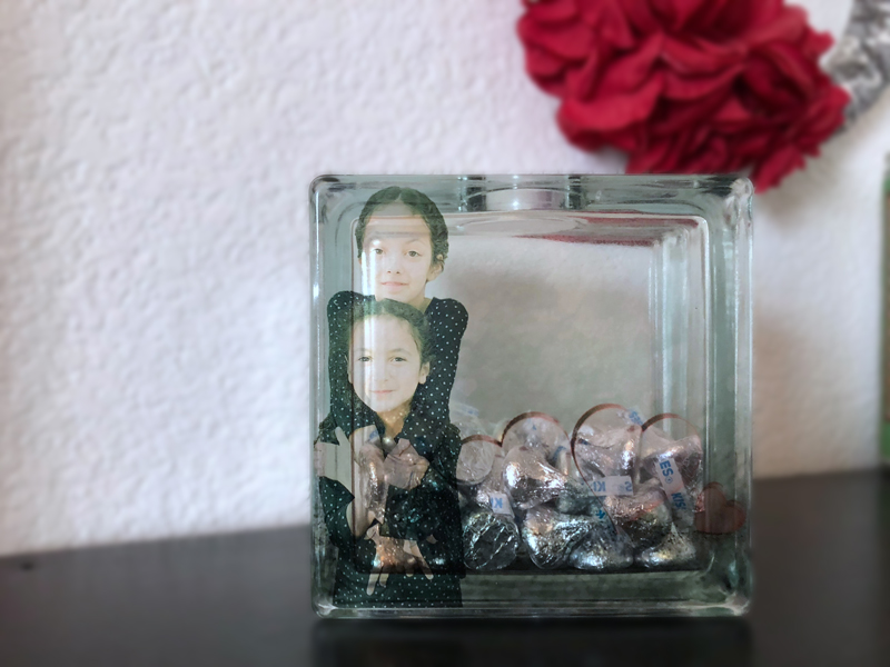 Glass block photo keepsake