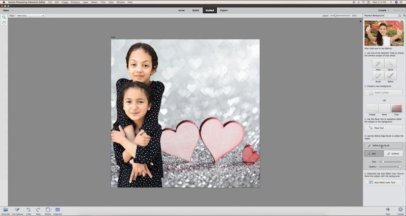 Photoshop Elements glass block project