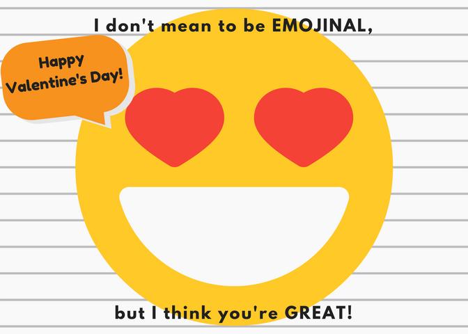Free Printable Emoji Valentine S Day Cards By Claudya