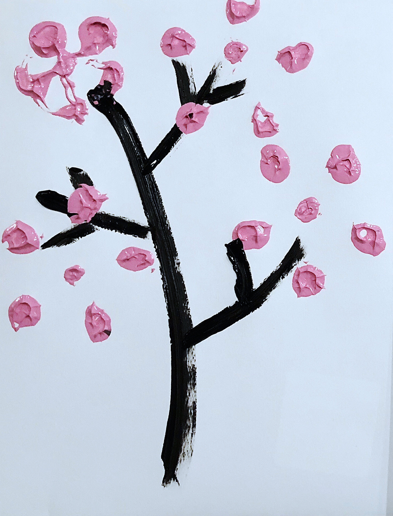 Cherry Blossom DIY Painting