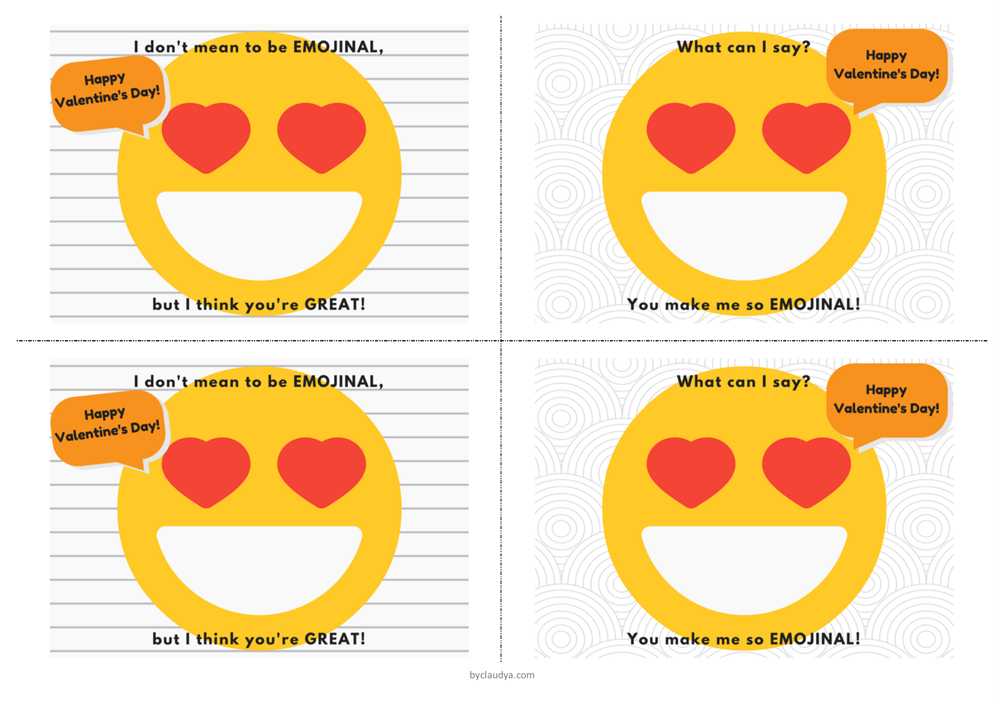 emoji valentines day cards